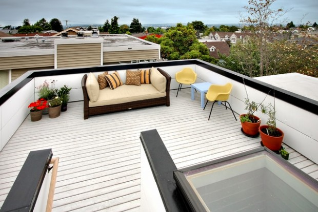 17 elegant roof terrace design ideas style motivation for Roof deck design