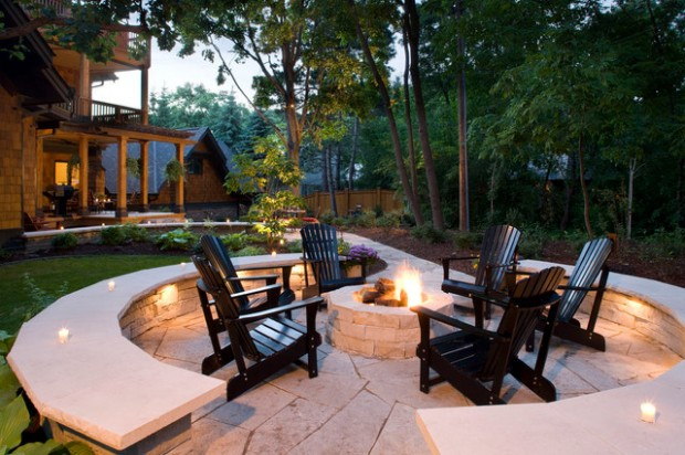 20 Great Fire Pit Ideas for Your Outdoor Area (6)