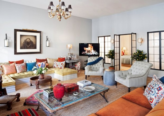 18 stylish boho chic living room design ideas style motivation for Urban boho style living room