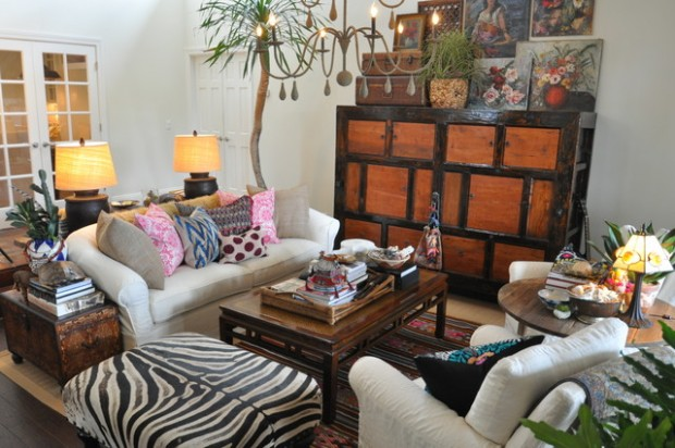 18 stylish boho chic living room design ideas style motivation. Black Bedroom Furniture Sets. Home Design Ideas