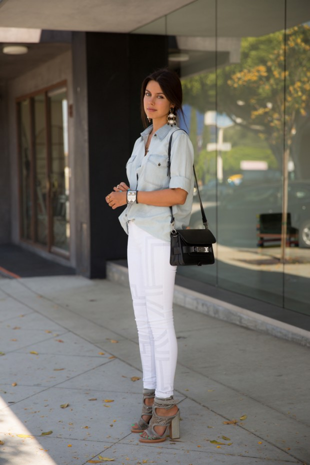 20 Stylish Outfit Ideas with Denim Shirt (11)