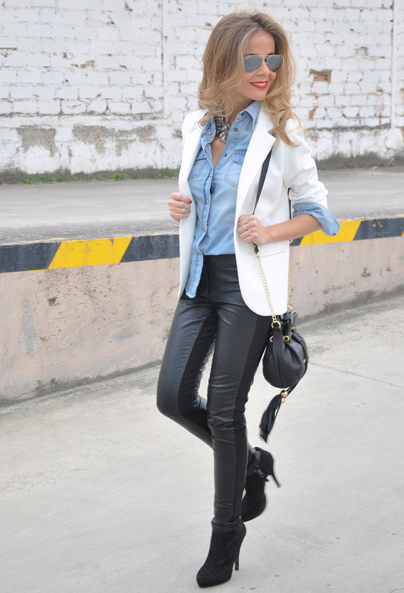 20 Stylish Outfit Ideas with Denim Shirt (12)