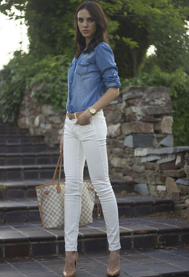20 Stylish Outfit Ideas with Denim Shirt (14)