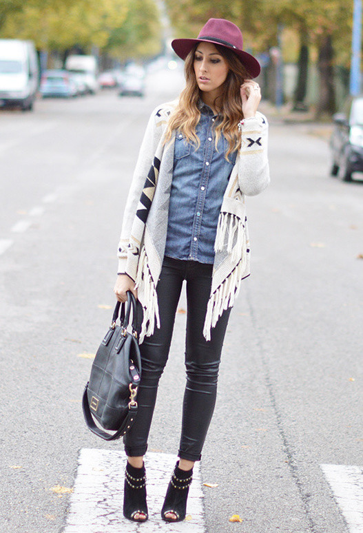 20 Stylish Outfit Ideas with Denim Shirt (15)