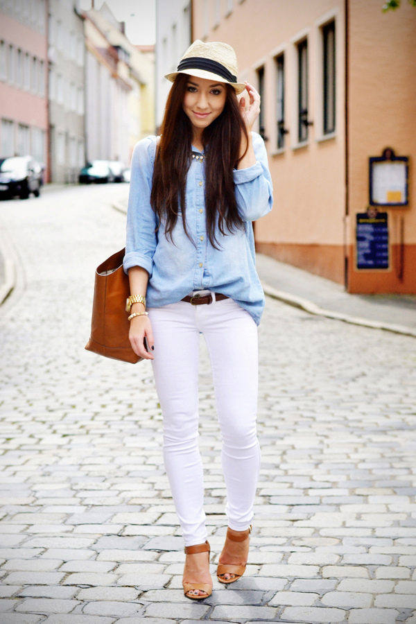 20 Stylish Outfit Ideas with Denim Shirt