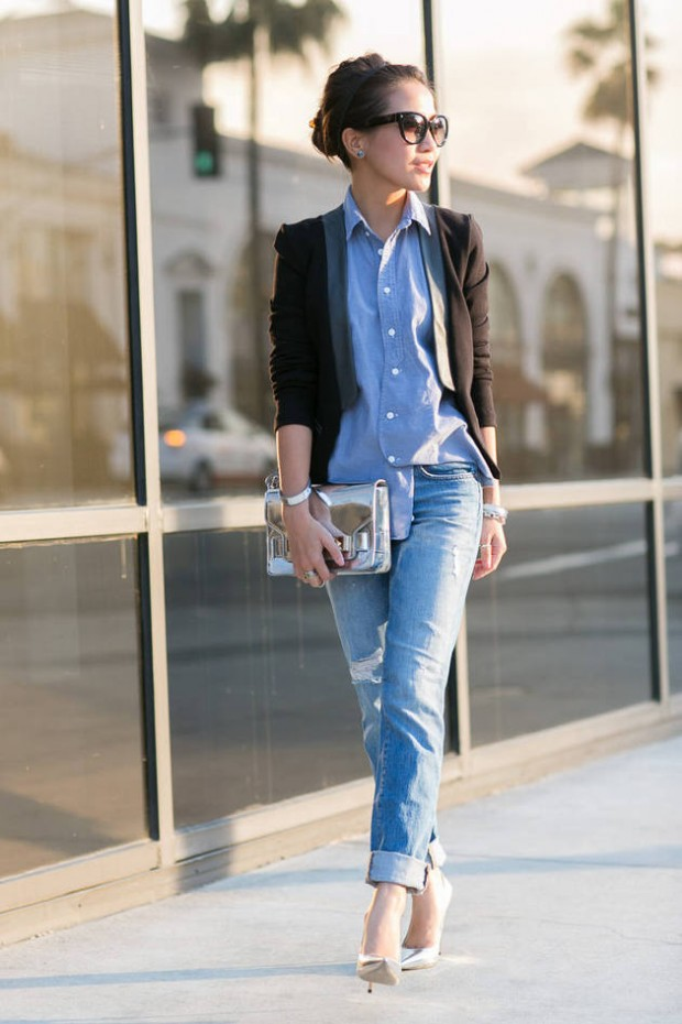 20 Stylish Outfit Ideas with Denim Shirt (4)