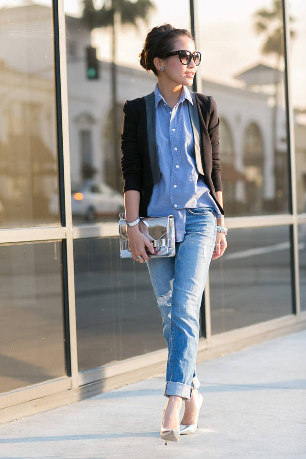 20 Stylish Outfit Ideas With Denim Shirt Style Motivation