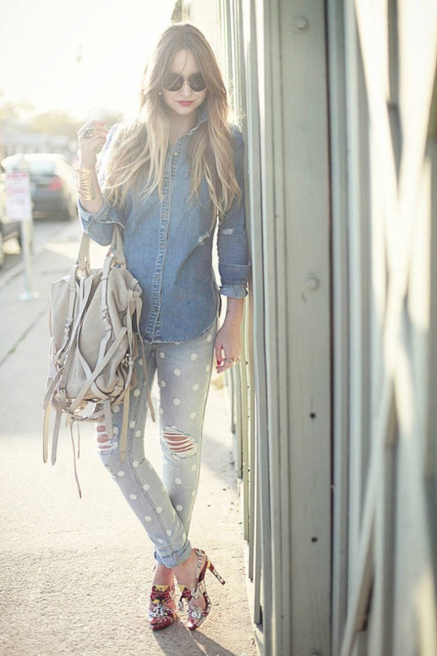 20 Stylish Outfit Ideas with Denim Shirt (5)