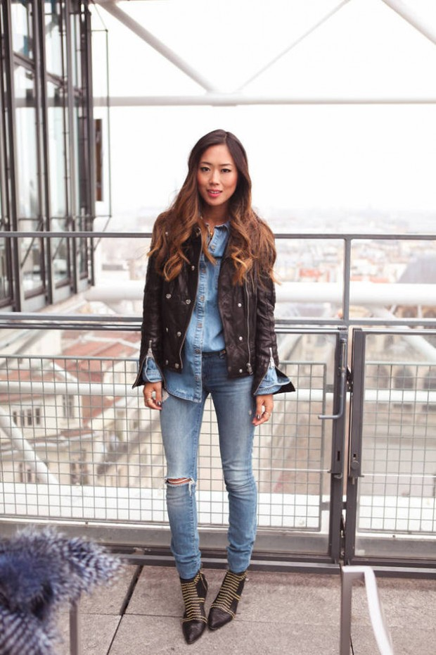 20 Stylish Outfit Ideas with Denim Shirt (6)