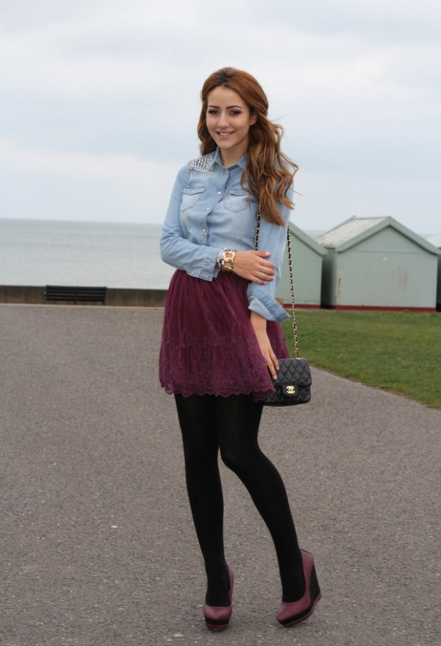 20 Stylish Outfit Ideas with Denim Shirt (7)