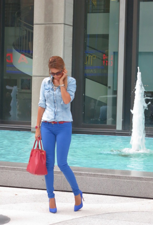 20 Stylish Outfit Ideas with Denim Shirt (9)