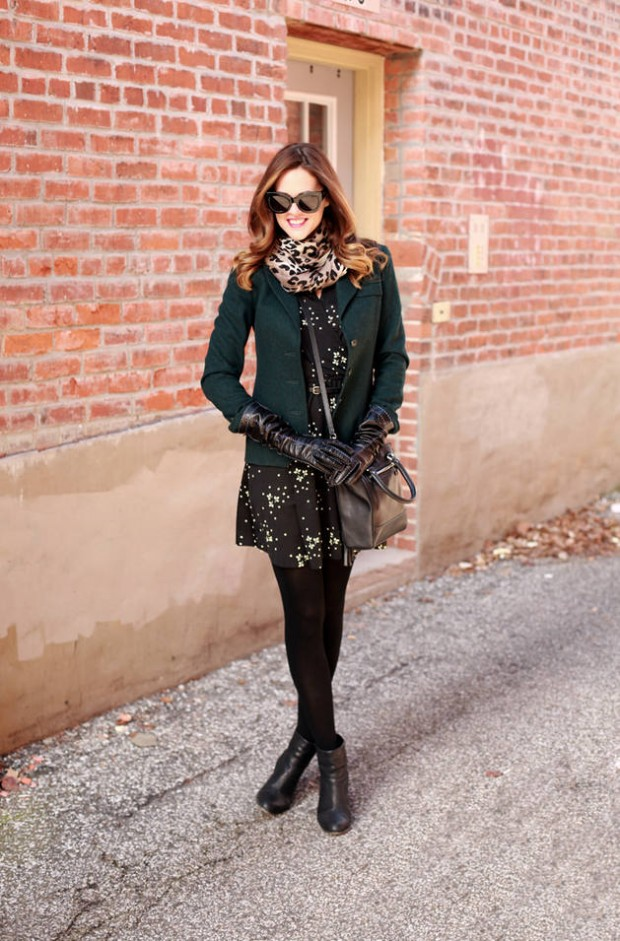 20 Stylish Outfits with Dresses for Cold Days  (11)