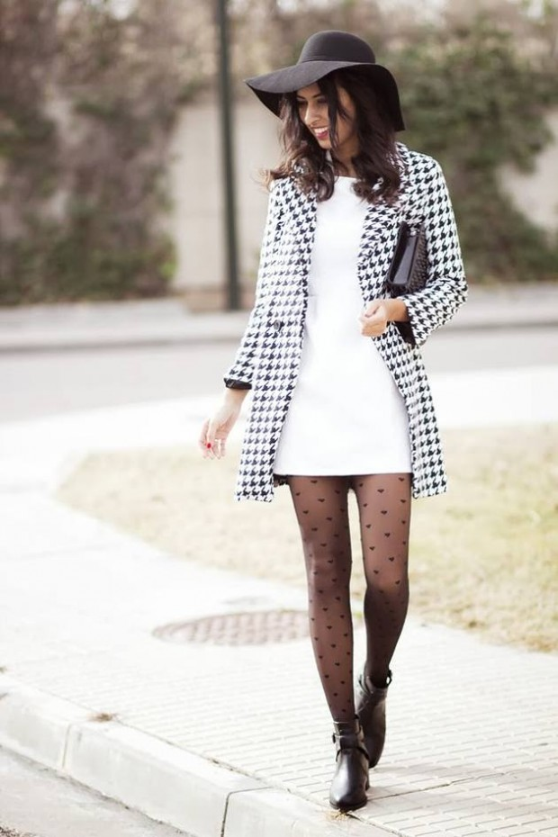 20 Stylish Outfits with Dresses for Cold Days  (12)