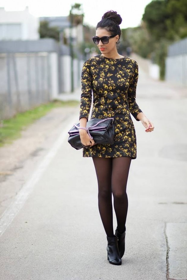 20 Stylish Outfits with Dresses for Cold Days  (15)
