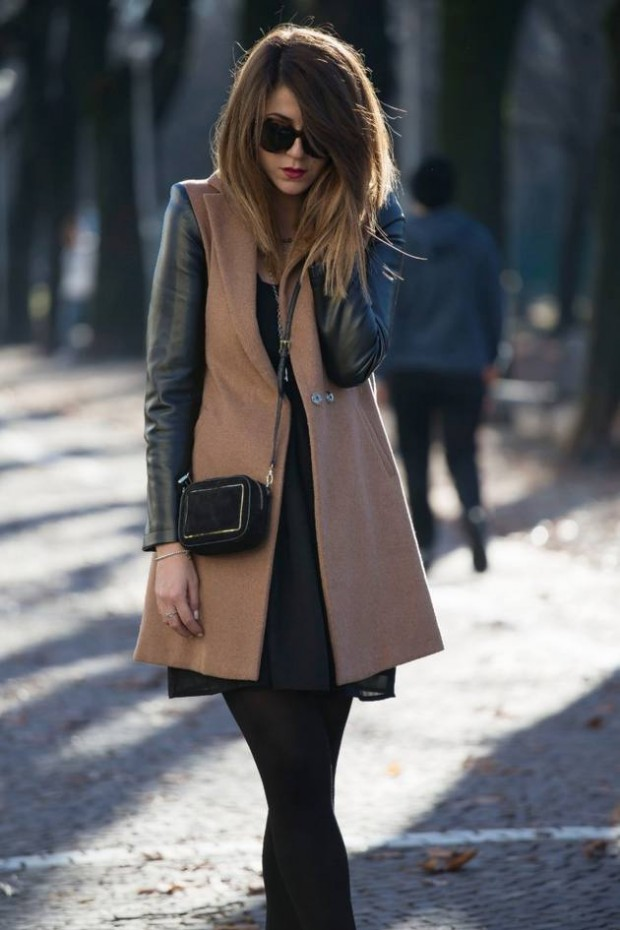20 Stylish Outfits with Dresses for Cold Days  (17)