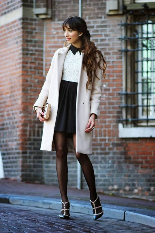 20 Stylish Outfits with Dresses for Cold Days  (3)