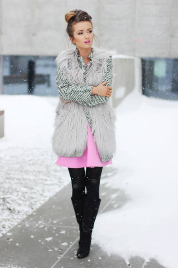20 Stylish Outfits with Dresses for Cold Days  (4)
