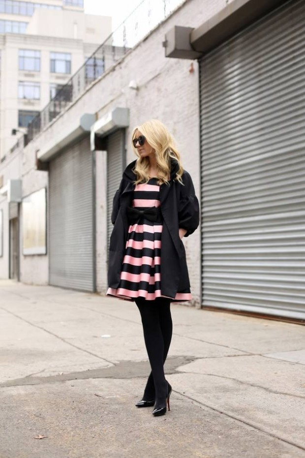 20 Stylish Outfits with Dresses for Cold Days  (5)