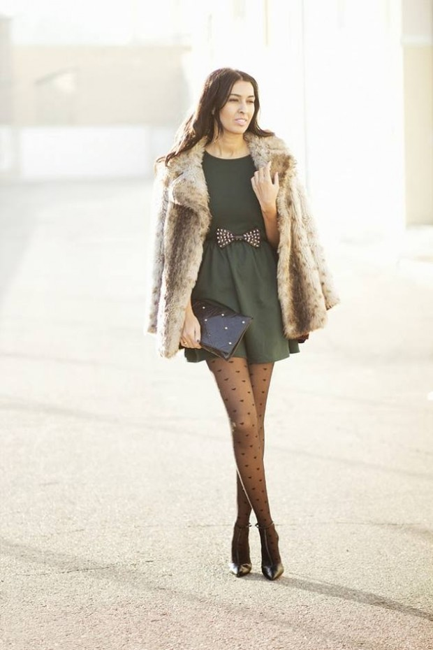 20 Stylish Outfits with Dresses for Cold Days  (7)
