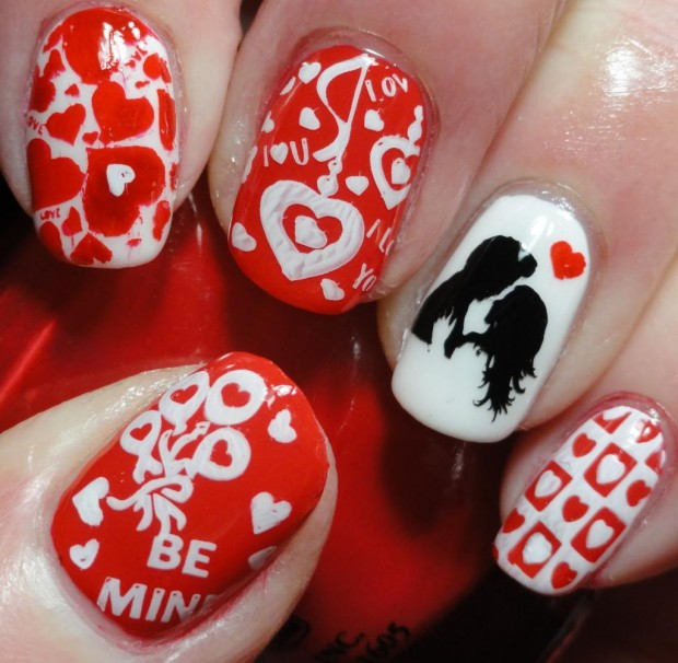 22 Cute Love Inspired Nail Art Ideas