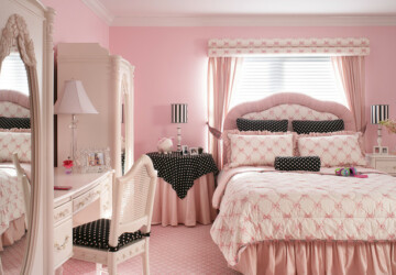 18 Amazing Pink Bedroom Design Ideas for Teenage Girls - girl room design, girl room, bedroom design