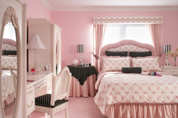 18 Amazing Pink Bedroom Design Ideas for Teenage Girls on Beautiful Rooms For Teenage Girls  id=37645