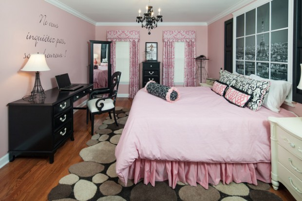 18 amazing pink bedroom design ideas for teenage girls for Amazing of black and pink bedroom ideas