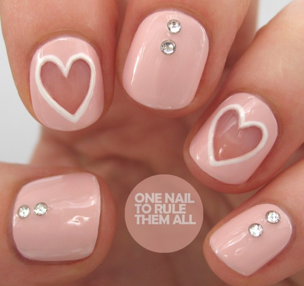 22 Sweet and Easy Valentine's Day Nail Art Ideas (1)