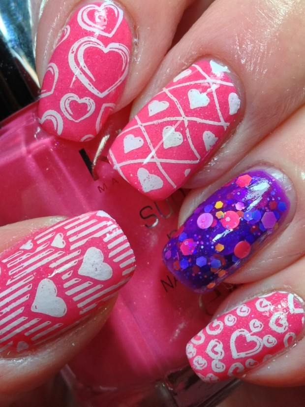22 Sweet and Easy Valentine's Day Nail Art Ideas (3)