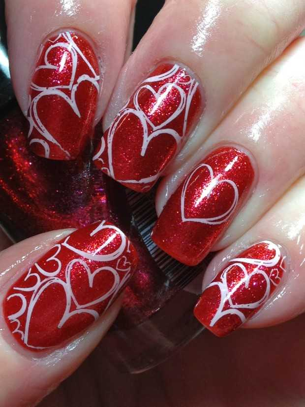 22 Sweet and Easy Valentine's Day Nail Art Ideas - Style Motivation