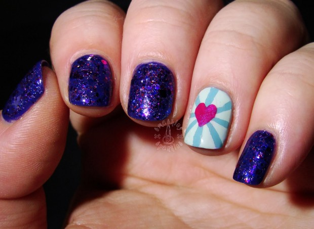 22 Sweet and Easy Valentine's Day Nail Art Ideas (8)