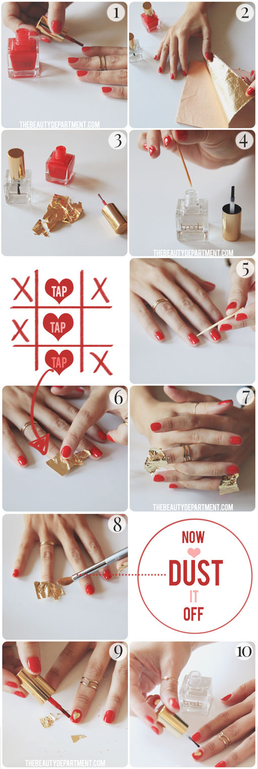 22 Sweet and Easy Valentine's Day Nail Art Ideas (9)
