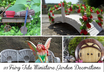 23 Fairy Tale Miniature Garden Decorations - yard, village, tiny, tale, spring, small, sign, plant, outdoor, Natural, moss, mini, house, hobbit, green, grass, gnome, garden, furniture, fairy, door, decorations, decor, castle, bridge, bench, Accessories