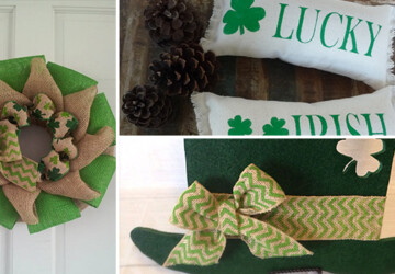 23 Inspiring Various Saint Patrick's Day Decorations - wreath, wood, St. Patrick's Day, spring, sign, shamrock, saint, primitive, Pillow, patrick, moss, luck, leprechaun, irish, holiday, hanging, handmade, green, decor, deco mesh, cover, chevron, burlap, bow