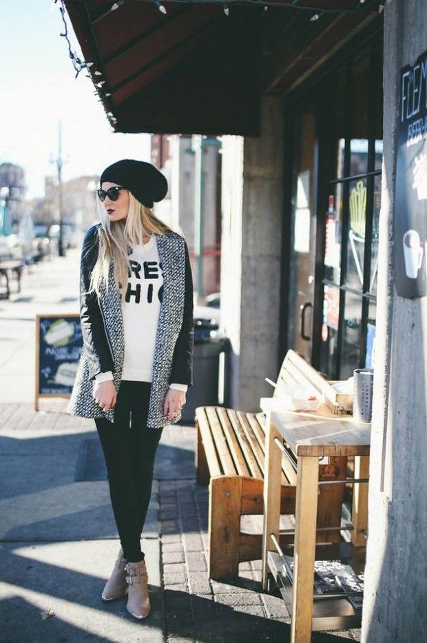 Stylish and Warm 20 Great Street Style Outfit Ideas (1)