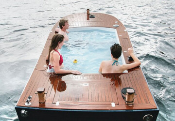10 of the Most Unique Hot Tubs: Which One is Right For You? - Wood-Fired, Most Unique Hot Tubs, La Scala Jacuzzi, Hot Tubs, futuristic hot tub