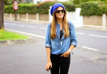 "Top 21 Divine Examples of Denim Outfits ""Spring 2014"" - women outfit, denim shirt, denim outfit, denim"