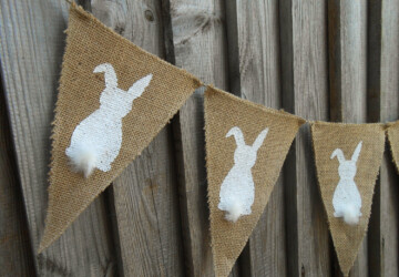 15 Awesome Handmade Easter Banner Decorations - spring, interior, holiday, handmade, garland, felt, Easter, decoration, carrot, burlap, bunny, banner