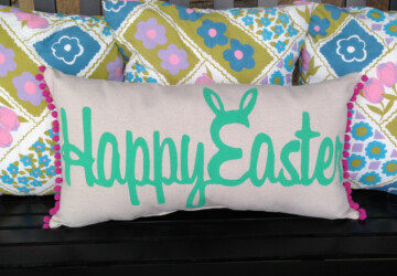 16 Adorable Handmade Decorative Easter Pillows - unique, spring, sofa, rabbit, pillowcase, Pillow, holiday, handmade, egg, Easter, decoration, cushion, cover, case, burlap, bunny