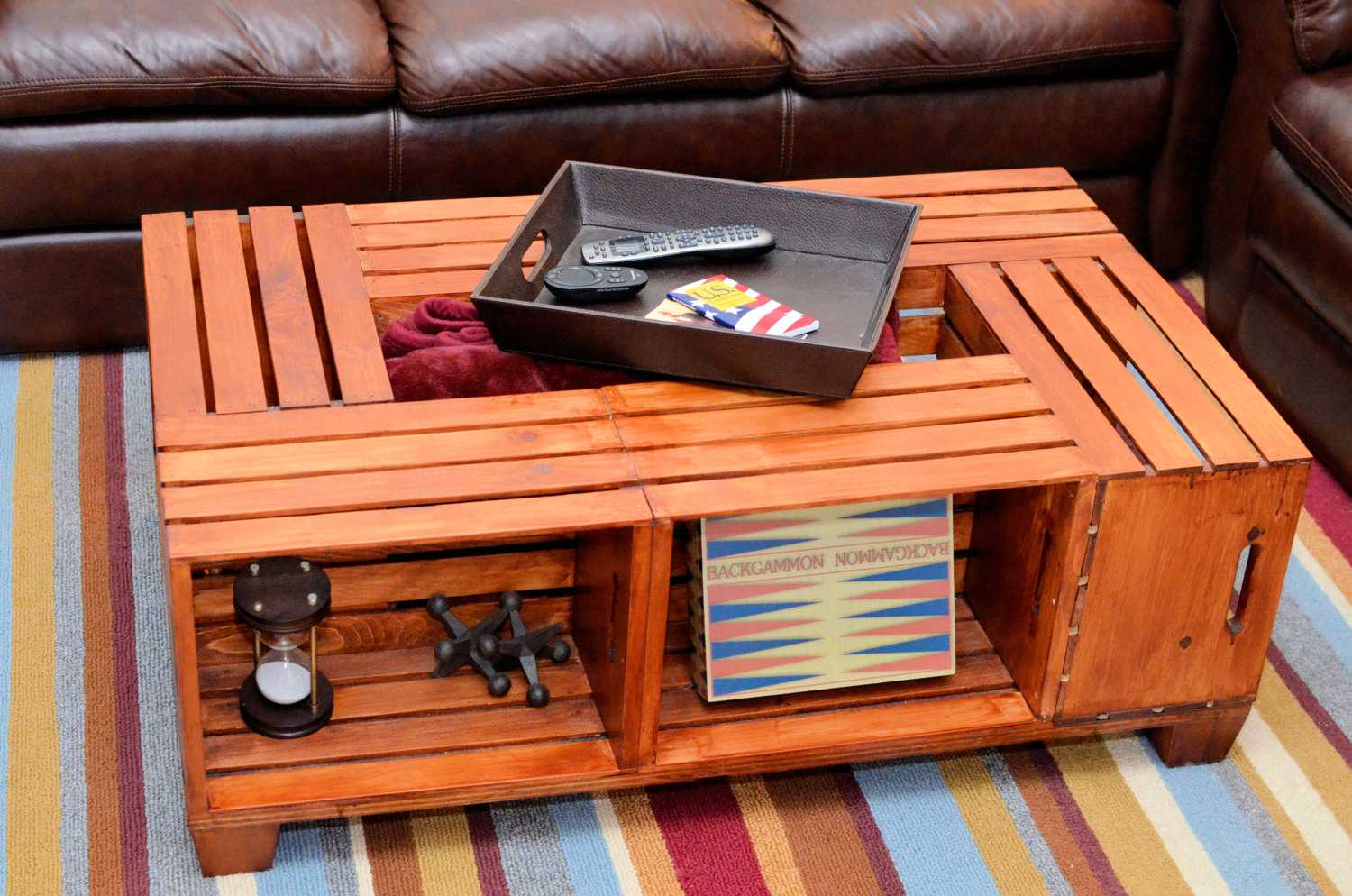 16 handy diy projects from old wooden crates style motivation crate coffee table 16 handy diy projects from old wooden crates geotapseo Choice Image
