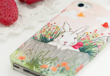 17 Creative and Natural Looking iPhone Cases for Spring - trees, spring, rabbit, protective, plastic, nature, Natural, iPhone, hard, gadget, Flower, floral, decorative, cover, cell phone, case, birdhouse
