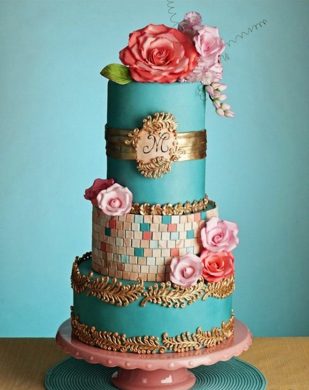 18 Beautiful Ideas for Perfect Wedding Cake Decoration (9)