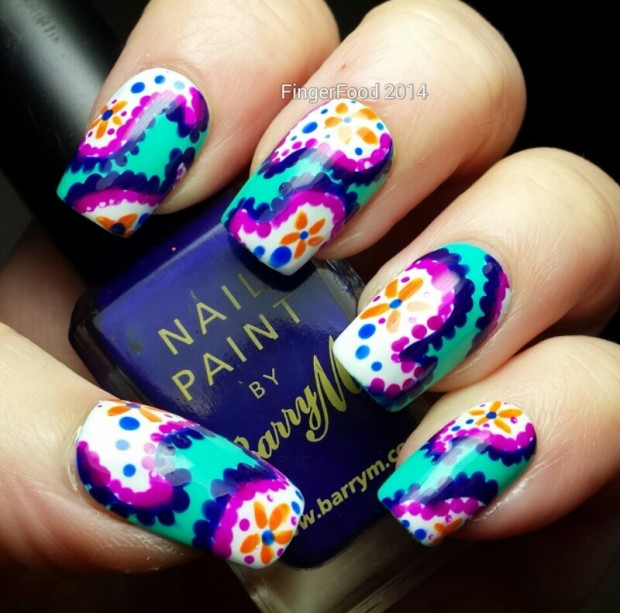 18 Colorful and Floral Ideas to Inspire Your Next Nail Design (5)
