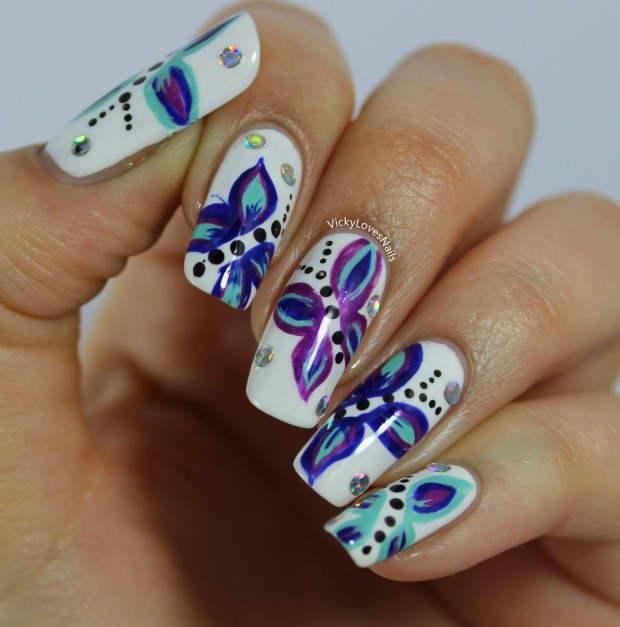 18 Colorful and Floral Ideas to Inspire Your Next Nail Design (9)