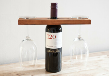 18 Elegant and Creative Handmade Wine Holders - wooden, wood, wine rack, wine, wall-mounted, wall, upcycled, unique, style, steel, stand, rustic, reclaimed, rack, pallet, mounted, modern, metal, industrial, holder, handmade, glass, bottle