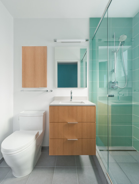 18 Functional Design Ideas for Small Bathrooms (4)