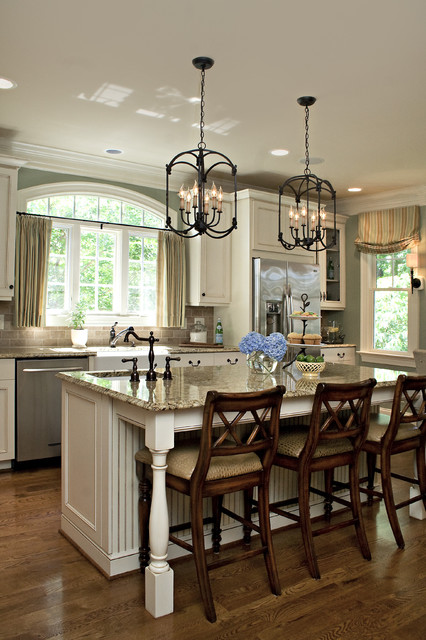 18 Gorgeous White Kitchen Design Ideas in Traditional ... on Traditional Kitchen Wall Decor  id=18784