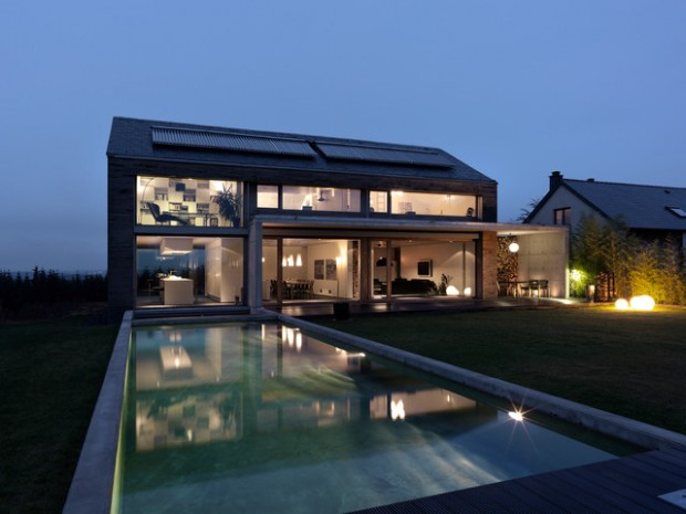18 modern glass house exterior designs style motivation for Modern glass house floor plans