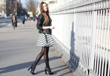 18 Lovely Woman's Outfits with Tights - Tights, outfit with tights, elegant outfit, cute outfit, classic outfit, black tights