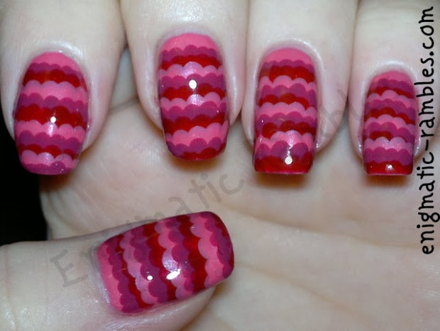 20 Cute and Funny Ruffle Nail Art Ideas